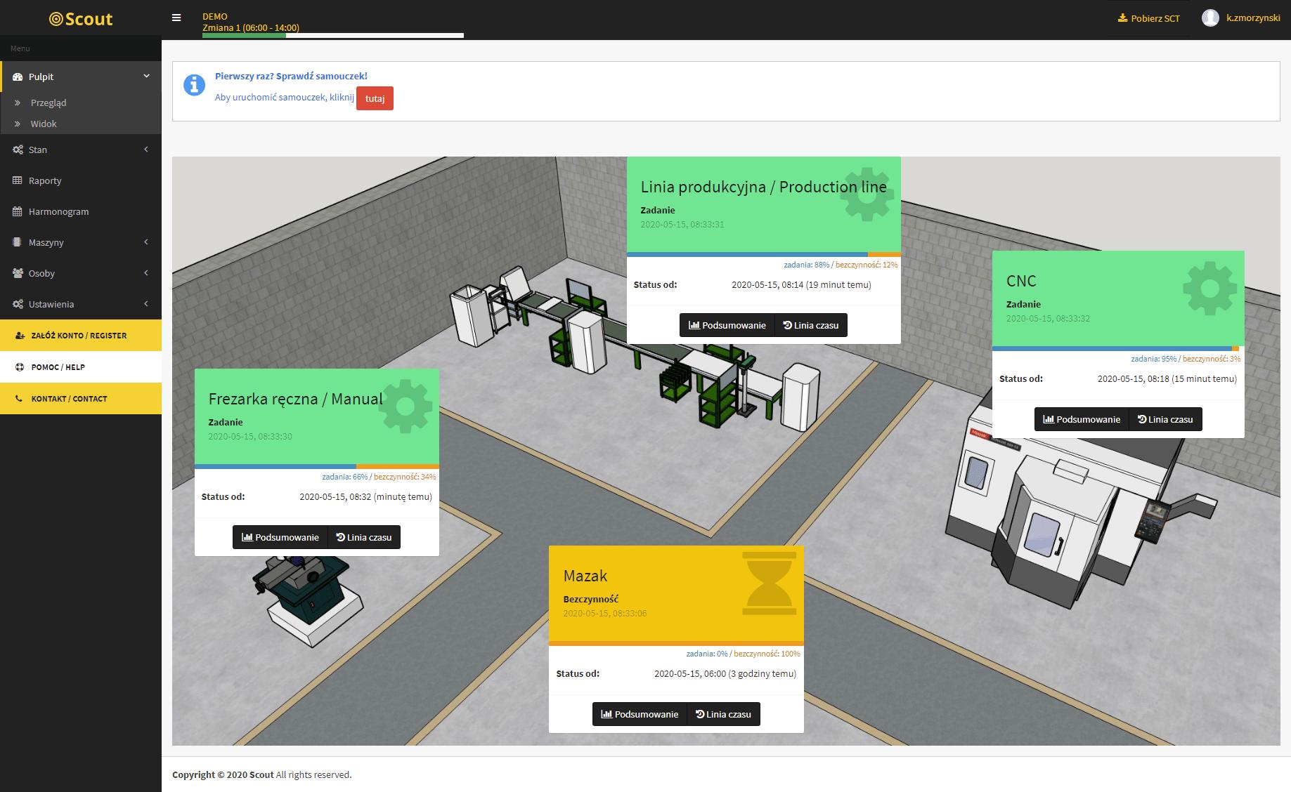 Monitoring maszyn w czasie rzeczywistym